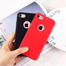 9 renk TPU silikon buzlu mat iphone için kılıf 7 8 artı 6 6 s X XR XS Max 5 5 S yumuşak arka kapak için iPhone 6 artı 7 8 5 S EE...