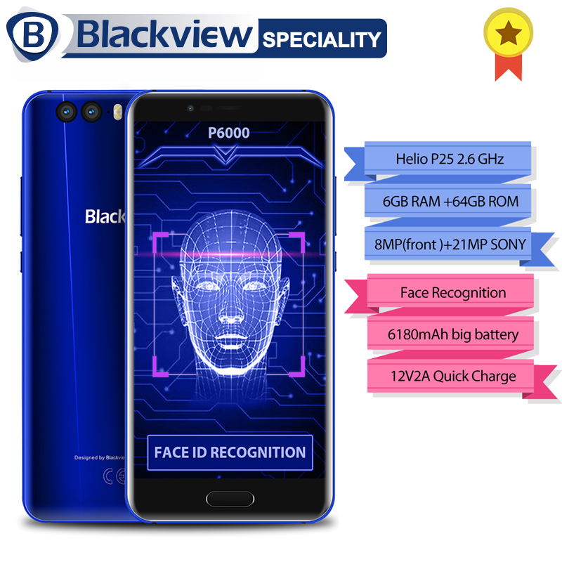 Blackview P6000 Viso Riconoscimento Smartphone 5.5