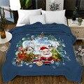 Одеяло для кровати фланелевое одеяло одностороннее одеяло рождественское покрывало для кровати с животными мягкое для дома 150*200 см