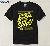 Última Camiseta Hombres 2017 Better Call Saúl Hombres Breaking mala Carta de Saul Goodman Sunlight T-Shirt Básica Camiseta Divertida Top
