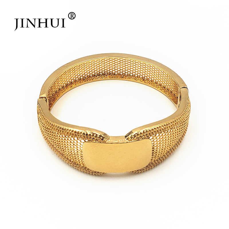 Jin Hui ใหม่แฟชั่นสีงานแต่งงานสำหรับผู้หญิงเจ้าสาวสร้อยข้อมือเอธิโอเปีย/ฝรั่งเศส/แอฟริกา/ดูไบเครื่องประดับของขวัญ