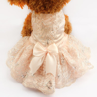 Armi Store Sequins Lace Embroidered Dog Dress Princess Wedding Dresses For Dogs 73009 Pet Tutu Skirt