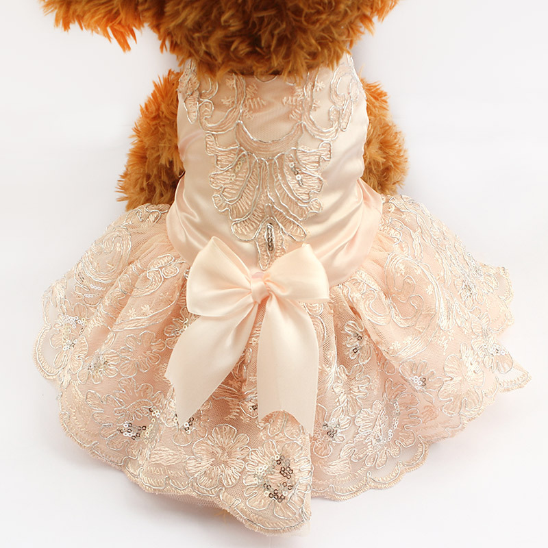 Armi Store Sequins Lace Embroidered Dog Dress Princess
