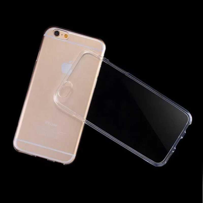 ברור סיליקון רך TPU מקרה עבור iphone 6s 6 7 8 בתוספת 6 sPlus 8 בתוספת X 10 XS MAX XR שקוף מקרה טלפון עבור iphone 4S 5 5S SE
