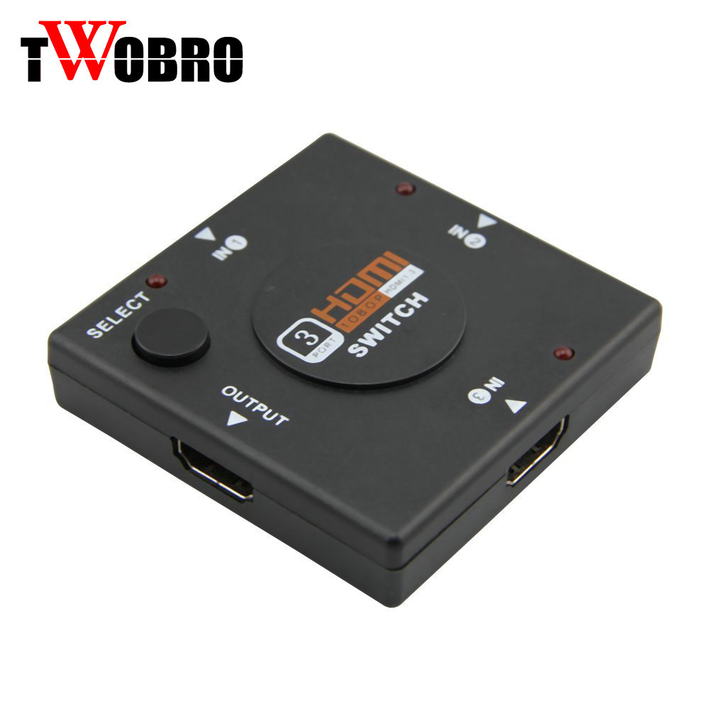 High Speed Mini 3 Port HDMI Hd Switcher 3 Input 1 Output / HDMI Converter For PS3 PS4 Smart HDTV 1080P