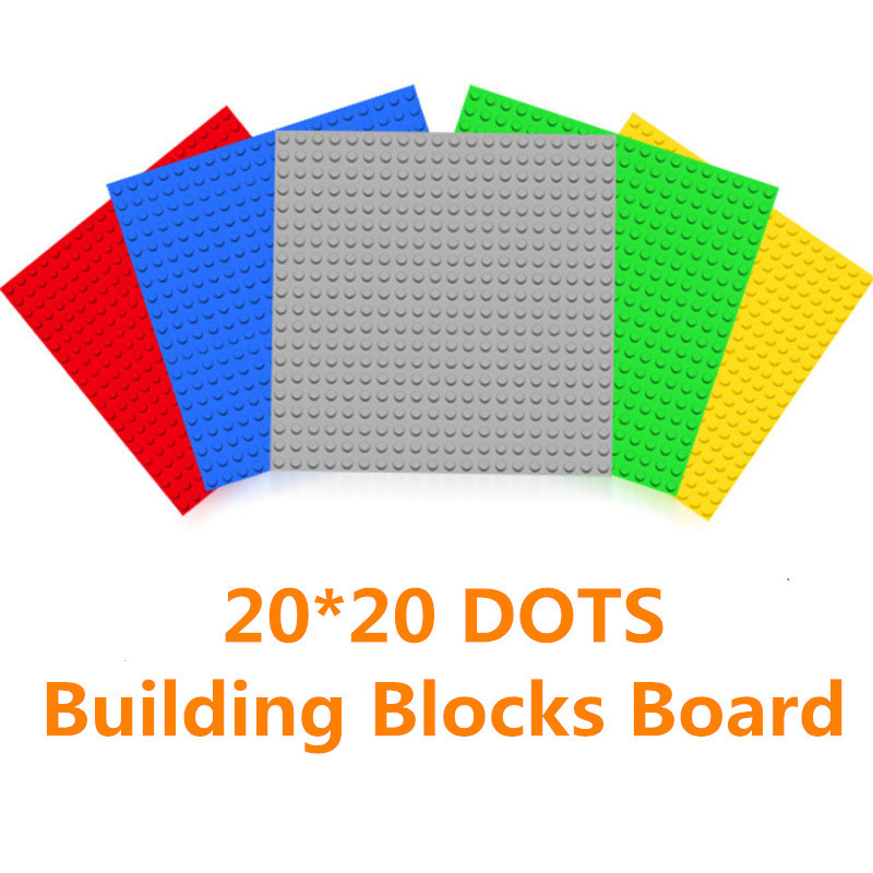 20*20 Dots Base Plate For Small Bricks Baseplate Board Compatible Legoing Figures DIY Building Blocks Toys For Children
