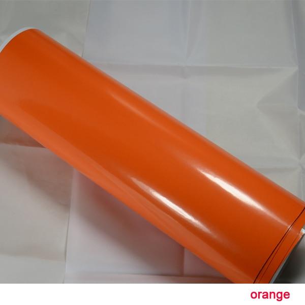 2015 новые рос Китай мечта 1.52X30m воздуха бесплатно пузыри оранжевый Глянцевая винил автомобиль наклейка винил декоративные наклейки для мебель