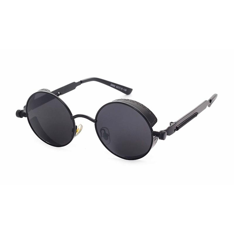 2016 Steampunk Women Men Unisex Round Circle Lens Sunglasses Cool Male Female Mirror Sun Glasses Coating QKlxR0