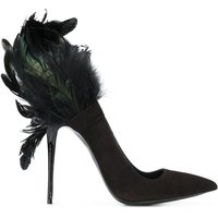 Sexy Feather Pumps High Heel Shoes Party Brand Luxury Club Party Prom Shoes Mujer