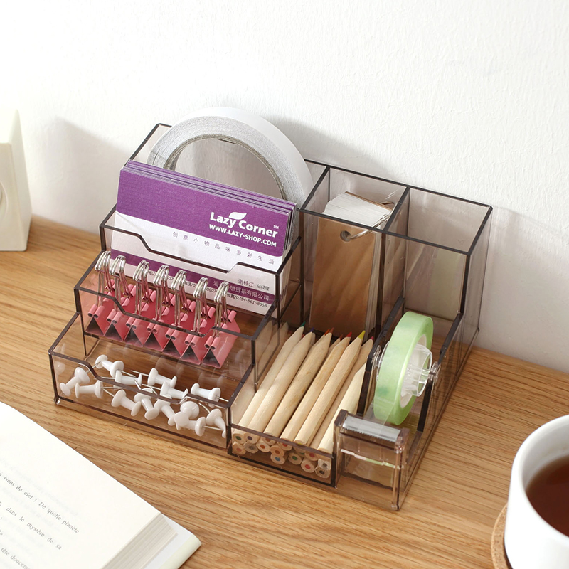 Multifunction Pen Creative Holder Display Stand Clear Acrylic Cosmetic Organizer Makeup Case Sundry Storage makeup organizer