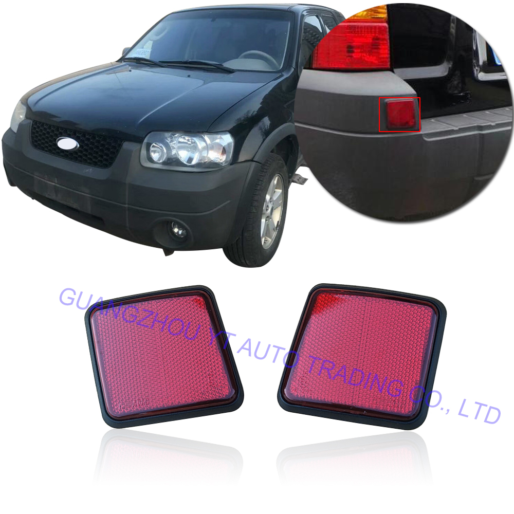 CAPQX For Ford Escape Kuga 2005 2006 2007  Rear Bumper Brake Light Reflector Warning Light Reflector Fog Light Fog Lamp