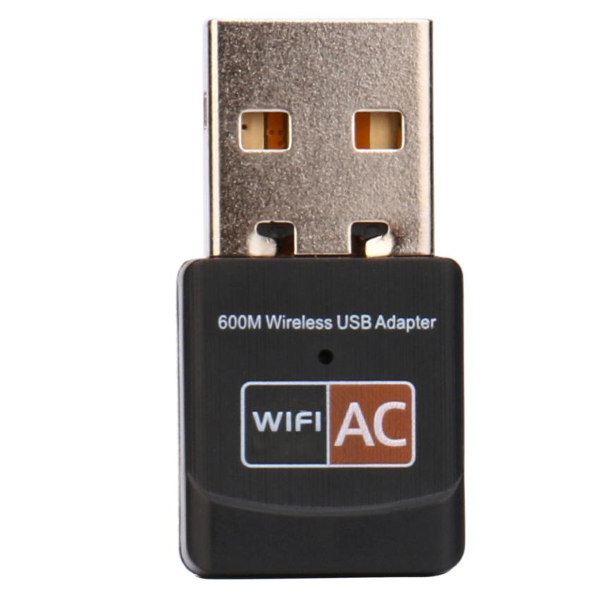 600Mbps Dual Band 2.4Ghz 5Ghz USB WiFi Dongle AC600 Wireless Lan Network Adapter Sep03
