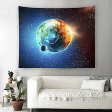 New Big Size Galaxy Space Wall Hanging Tapestry Mandala Boho Tapestries Carpet Polyester Fabric Table Cloth Beach Towel