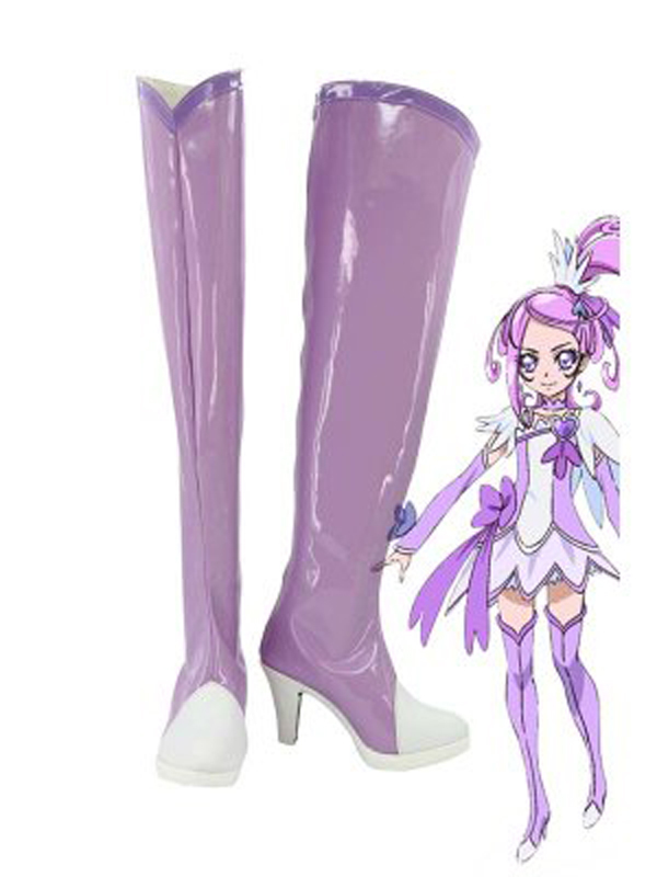 Pretty Cure Kenzaki Makoto Cure Sword Cosplay Boots Shoes Anime Party Cosplay Boots Custom Made for Adult Women High Heel Shoes
