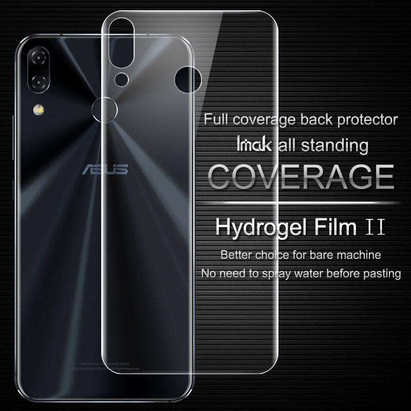 Imak Anti Éblouissement Hydrogel 2ème Géné Film pour Asus Zenfone 5 5z ZE620KL ZS620KL 3D Pleine Couverture Protecteur Couverture Arrière Protecteur Film