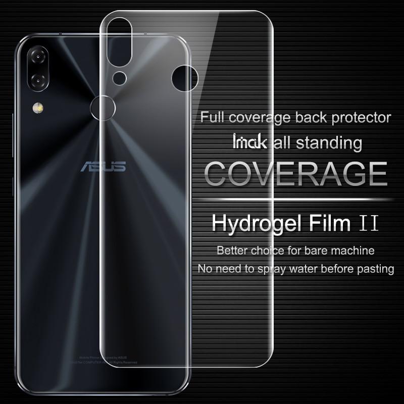 Imak Anti Glare Hydrogel 2th Gener Film for Asus Zenfone 5 5z ZE620KL ZS620KL 3D Full Cover Protector Back Cover Protector Film