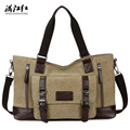 New Arrival Fashion Big Capacity Man's Travel Bag Cotton Canvas Shoulder Bag Portable Commercial Men Handbag 1324