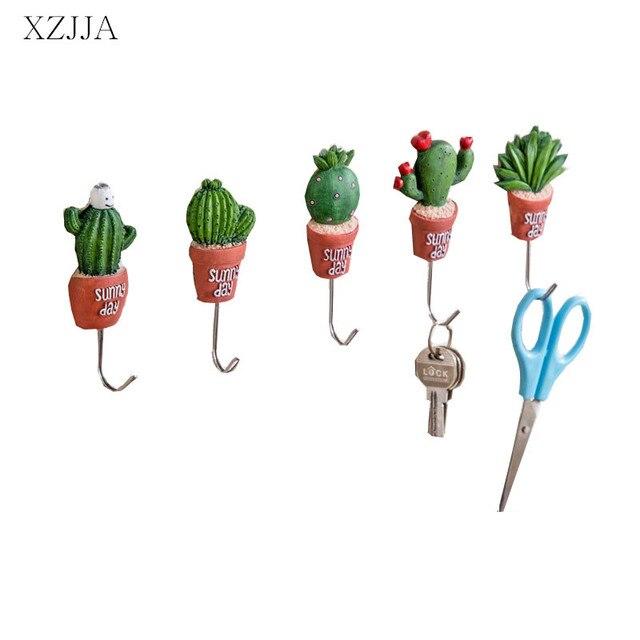 xzjja stainless steel hook creative cactus kitchen wall door hanger