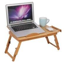 1 estante de escritorio de bambú ajustable para dormitorio, cama portátil, soporte para dos flores, mesa de lectura de libros para ordenador portátil
