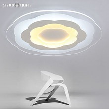Modern LED Ceiling Light Round Petal Pattern Living Room Lamp Acrylic New Energy Efficient Home Luxury Decor Lighting