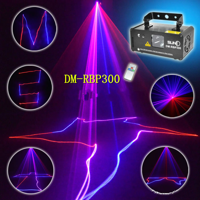 High quality red blue line projection laser light Sound control Laser stage lighting KTV bar light beam lamp party