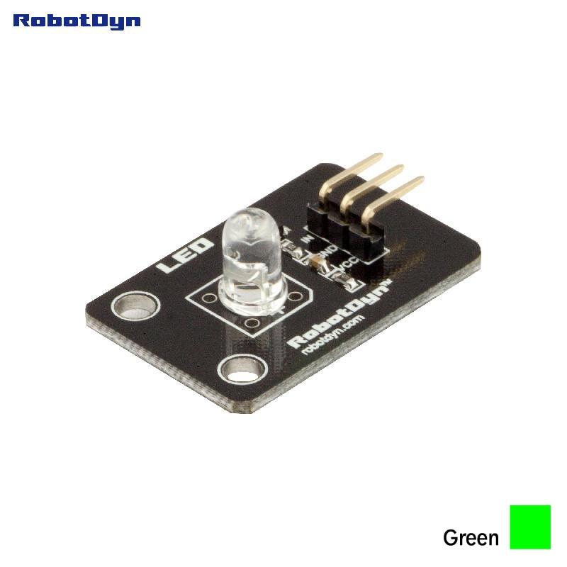 Color LED module (GREEN). 3.3V/5V