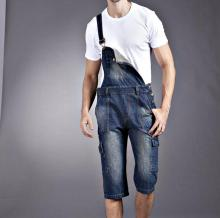 2015 HOT  Overall Large Size Men Jeans Straight Design Blue Color 25 To 40 Mid-Rise Plus Size Denim Jumpsuit