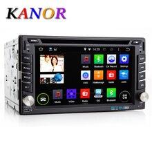 KANOR 2 Din Android 7.1 Auto Dvd Player Audio Stereo Für Universelle Gps-Navigation Lenkradsteuerung Radio Recorder Wifi Karte