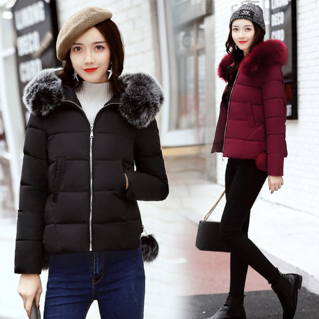 767cb60dac9 Pengpious 2017 autumn and winter short design maternity down coats thick  warm fur hooded pregnant women cotton jackets pregnancy