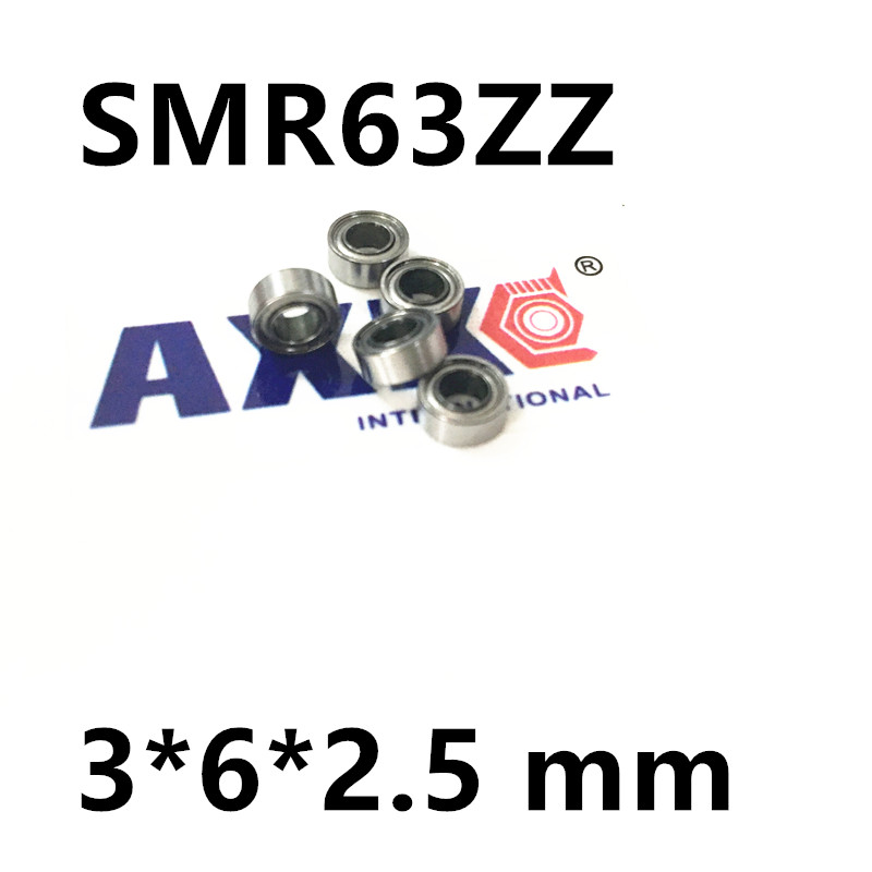 free shipping miniature stainless steel deep groove ball bearing (stainless steel 440C material) SMR63ZZ 3*6*2.5 mm free shipping 10pcs mr62zz mr63zz mr74zz mr84zz mr104zz mr85zz mr95zz mr105zz mr115zz mr83zz miniature bearing