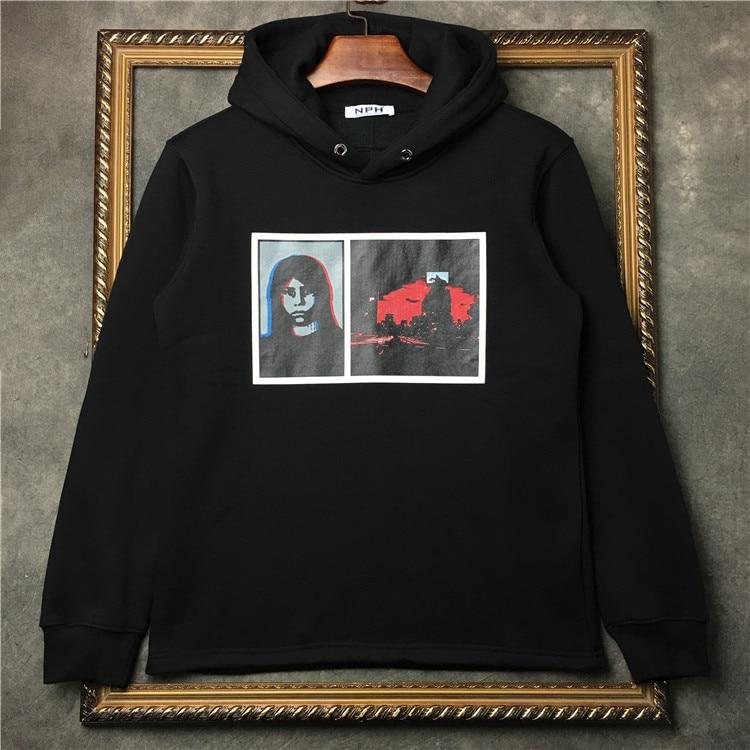 af35f33172f29 New 2017 High Men Lovely Abstract portrait gentleman Hoodies Hoody hooded  Sweatshirts velvet Cotton Drake Thicken Fleece #F18 ~ Top Deal July 2019