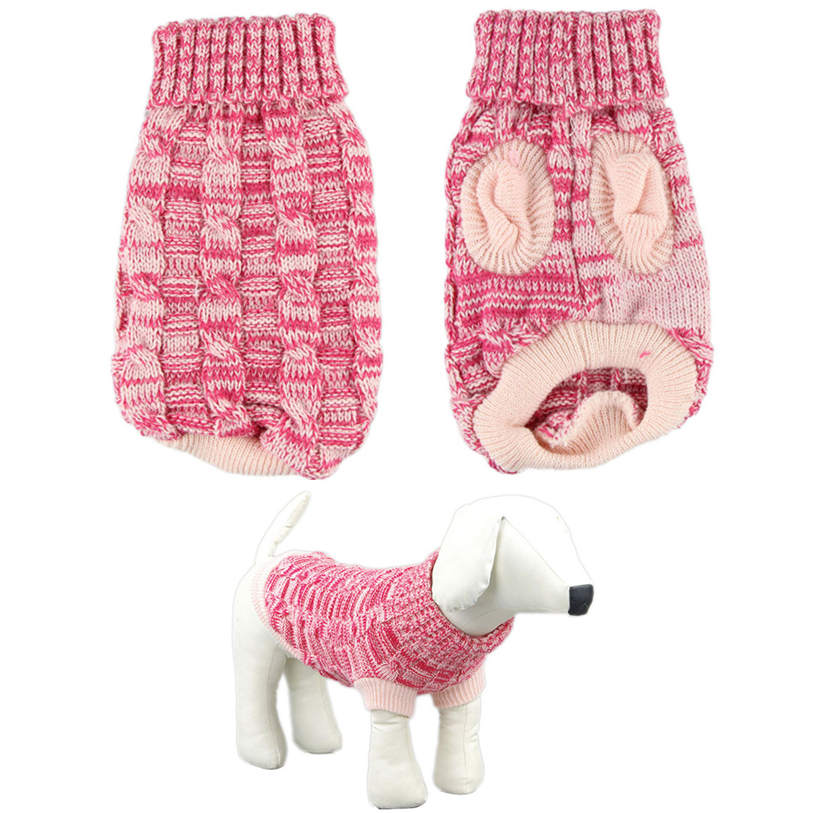 1 PC Pet Clothes Winter XS-2XL Sweater Twist Design Pet Puppy Knit Dogs Clothes Coat For Small Medium Large Dogs D26