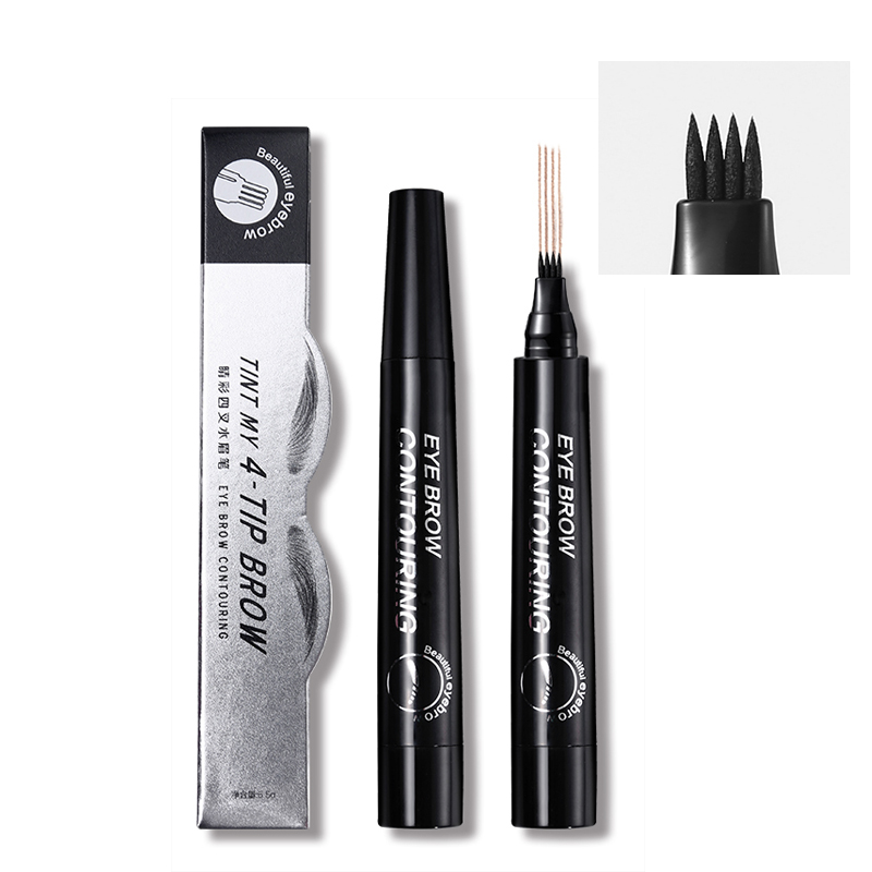 Eyebrow Enhancer Makeup Fine Sketch Tattoo Eyebrow Pencil Tinted Eye Brows Smudge-Proof Natural Brown Color Long Lasting Pigment