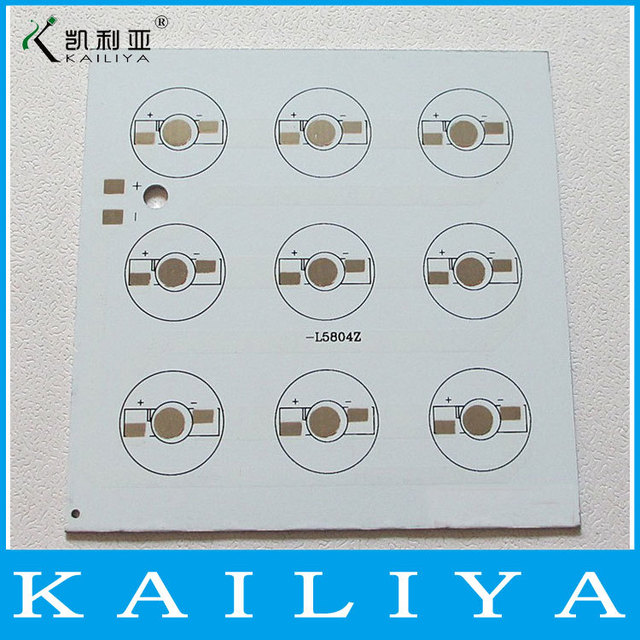 6pcs square length 100 width 100mm 9W High Power LED Pcb Aluminum Plate base Heat Sink cooling annular cxircuit board Base