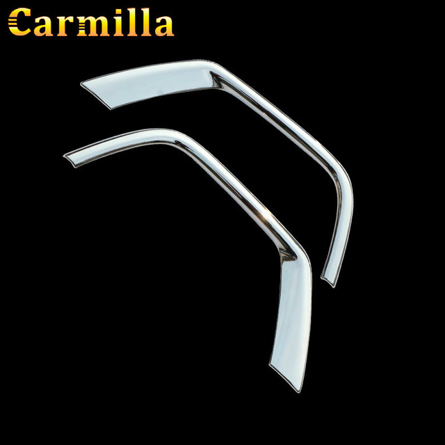 Carmilla Car Front Fog Lamps Protective Cover Fog Lights Covers Sticker for Jeep Compass 2nd Generation 2017 2018 Accessories