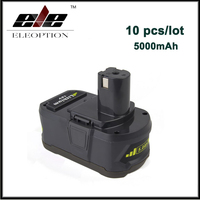 10x 18V 5000mAh Li Ion Rechargeable Battery For Ryobi P108 RB18L40 P2000 P310 For Ryobi for ONE+ BIW180