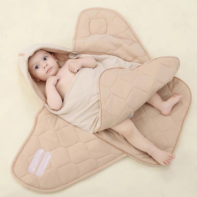 Smartlife 2 in 1 multifunctional 80*80cm New Born Baby Sleeping Bag for Baby Girls Boys Sleeping Blankets
