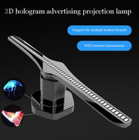 3D hologram advertising projection lamp 176°WIFI contron, Advertising logo Light Decoration Freeshipping