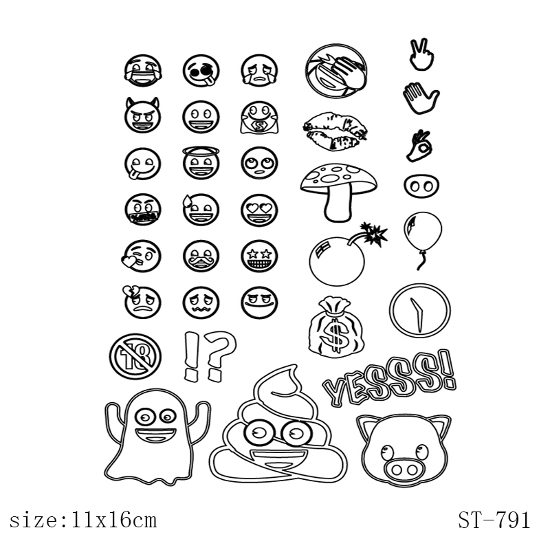 AZSG Funny anime expression Clear Stamps/Silicone Transparent Seals for DIY scrapbooking Card Making