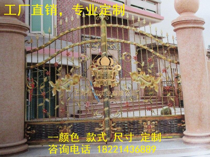 Custom Made Wrought Iron Gates Designs Whole Sale Wrought Iron Gates Metal Gates Steel Gates Hc-g26