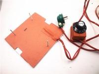 Calentador de silicona de 120 V/220 V 250W + placa base de aluminio + kit de actualización de cama de cristal calentado para impresora 3D Flashforge finder|Accesorios y partes de impresoras 3D| |  -