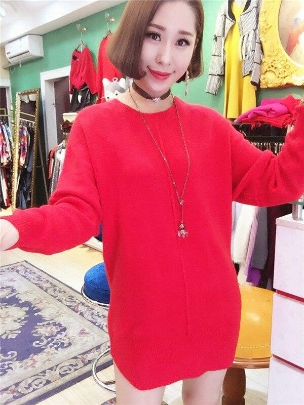 souris Manches Chauve 2018 Chandail Européen Rond Sucrerie Nouveau De Style Mode Longues Couleur Automne Tricot Femmes Col q1qZ0
