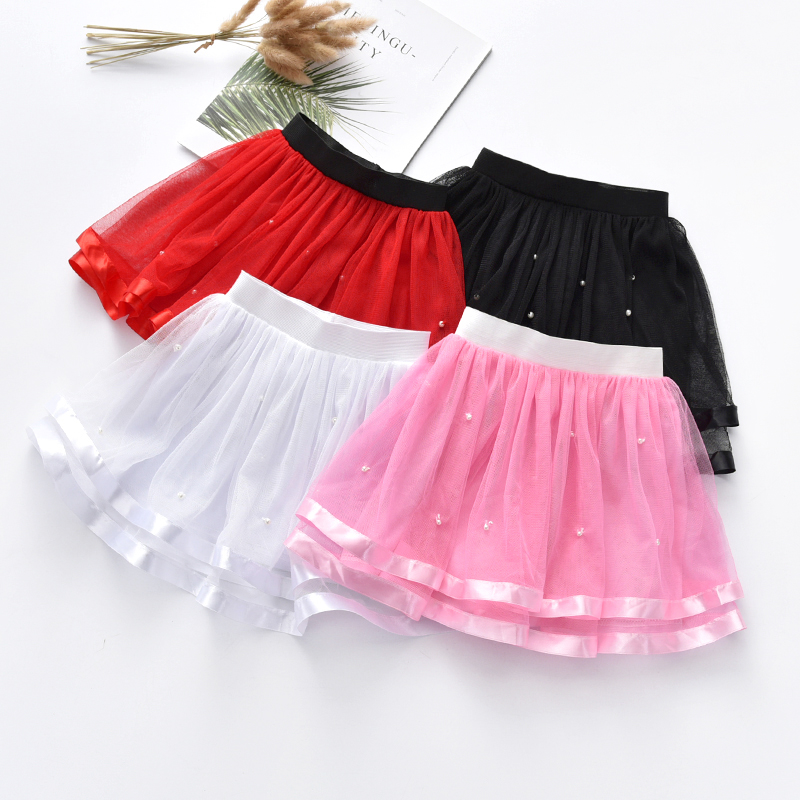 Hot Sale Summer Chiffon Ball Gown Girls Tutu Skirt Beading -5769