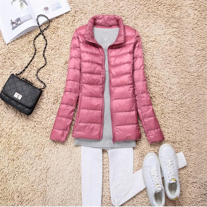 Sanishroly 2018 New Autumn Winter Women Thin White Duck Down Jacket Parka Female Ultra Light Down Coat Short Tops Plus Size S268 3
