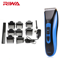RIWA Blue RE 750A Waterproof Hair Clipper Trimmer Cordless Professional Hair Clipper Rechargeable Haircut Kit