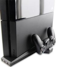 3 в 1 игровой контроллер держатель геймпад консоли подставкой + вентилятор охлаждения + контроллер Зарядное устройство док-станции с 3 USB HUB для Playstation 4 PS4