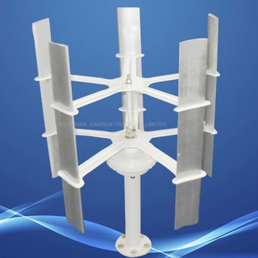 1 pc 10 w Max 15 w 12 v c; elevado-eficiente geradores de turbina de vento vertical Pequena 12 v 5 lâminas de rotor de energia eólica de energia
