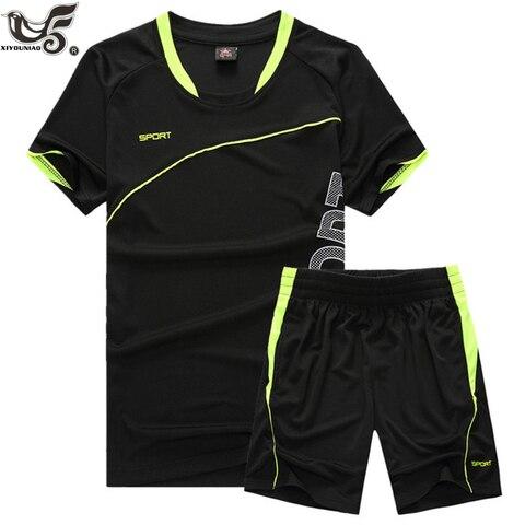 Summer Short Sets Men Casual Suits Sportswear Tracksuit Male Outwear Sweatshirts Hoodies joggers sporting T Shirt +Pants Pakistan