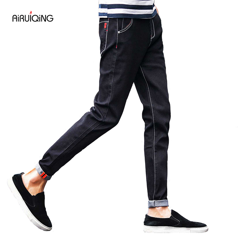 Hot Sale Men male black skinny jeans shorts men's clothing trend slim small trousers male casual trousers Large size 28-40 miss chen men s clothing male jeans slim skinny pants male winter trousers