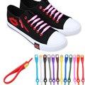 12pcs/lot Shoelaces Novelty No Tie Shoelaces Unisex Elastic Silicone Shoe Laces For Men Women All Sneakers Fit Strap 18 Colors
